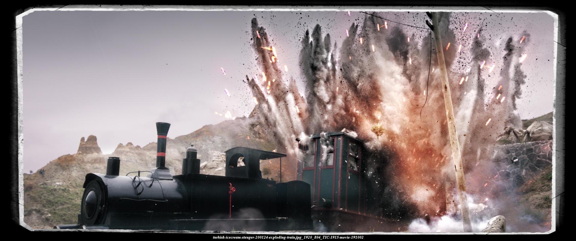 turkish-ICECREAM-heavy bomb explosion tears train wagons to pieces